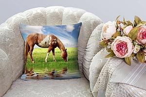 3D Подушка «Лошадь на лугу»  вид 8