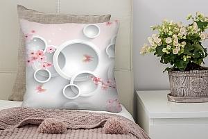 3D Подушка «Сакура в цвету»