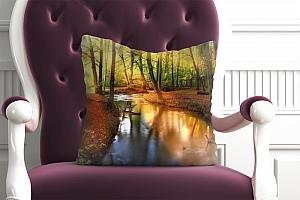 3D Подушка «Река в лесу»  вид 4