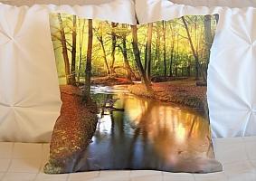3D Подушка «Река в лесу»  вид 6