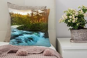 3D Подушка «Горная речка»