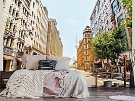 3D фотообои 3D Фотообои  «Улица города»  вид 3