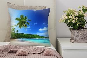 3D Подушка «Пальма на пляже»
