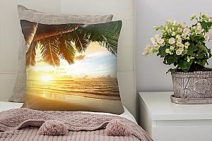 3D Подушка «Закат под пальмами»