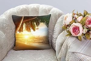 3D Подушка «Закат под пальмами»  вид 3