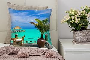 3D Подушка «Терраса у моря»