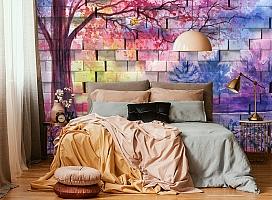 3D Фотообои  «Кирпичная стена с живописью»  вид 5
