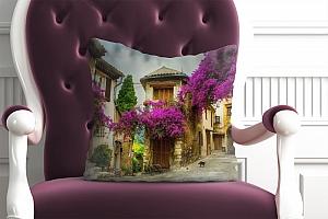 3D Подушка «Старая улочка»  вид 4