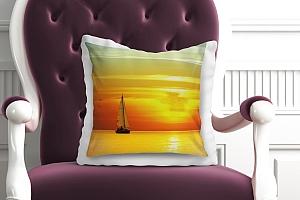 3D Подушка «Парусник на закате солнца»  вид 7