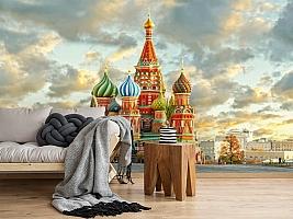 3D Фотообои  «Кремль Москва»  вид 5