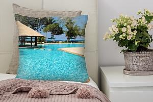 3D Подушка «Бассейн Мальдивы»