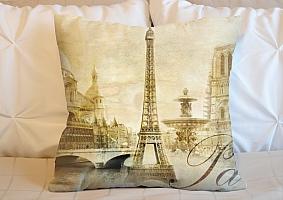 3D Подушка «Достопримечательности Парижа»