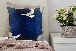 3D Подушка «Птицы в ночном небе»