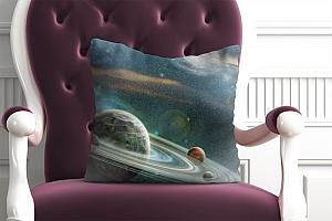 3D Подушка «Космический пейзаж»  вид 3