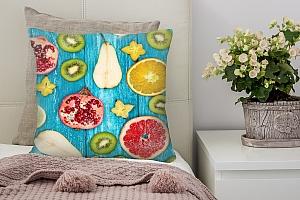 3D Подушка «Сочные фрукты»