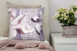 3D Подушка «Фиолетовые магнолии на рельефном фоне»  вид 6