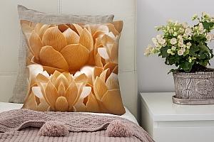 3D Подушка «Бутоны цветов резьба по дереву»