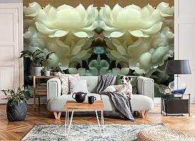 3D Фотообои  «Нефритовые цветы»  вид 8