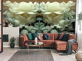 3D Фотообои  «Нефритовые цветы»  вид 4
