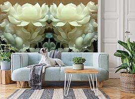 3D Фотообои  «Нефритовые цветы»  вид 2