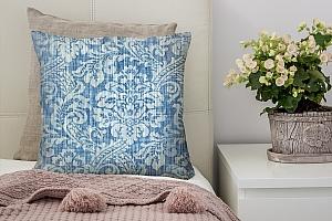 3D Подушка «Винтажный голубой фон»