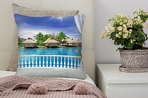 3D Подушка «Вид с террасы Таиланд»