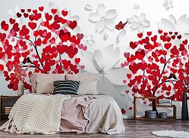 3D Фотообои  «Деревья любви»  вид 4