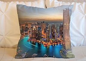 3D Подушка «Ночной Дубай»