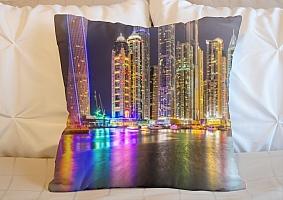 3D Подушка «Огни Дубая»