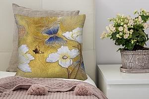 3D Подушка «Объемный цветочный фон»