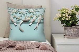 3D Подушка «Объемная инсталляция с птицами»  вид 2