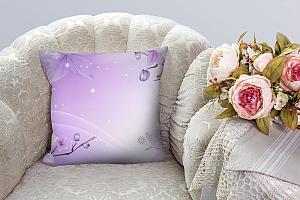 3D Подушка «Фиолетовая цветочная фантазия»  вид 7