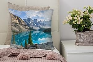 3D Подушка «Горное озеро в Альпах»