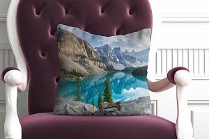 3D Подушка «Горное озеро в Альпах»  вид 4