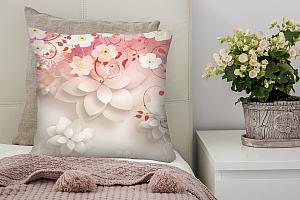 3D Подушка «Цветочные лианы»
