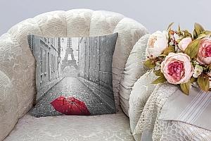 3D Подушка «Дождь в Париже» вид 3