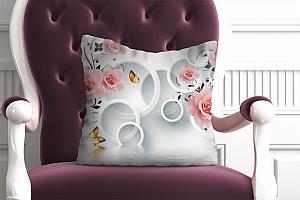 3D Подушка «Бутоны роз над водой»  вид 4