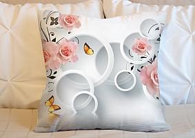 3D Подушка «Бутоны роз над водой»  вид 5