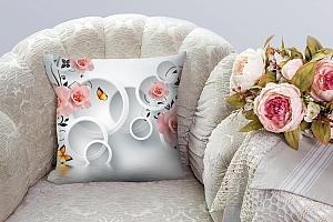 3D Подушка «Бутоны роз над водой»  вид 7