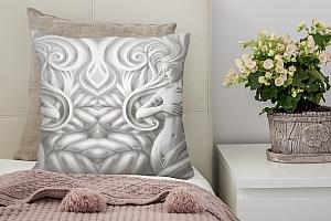 3D Подушка «Женщины барельеф»