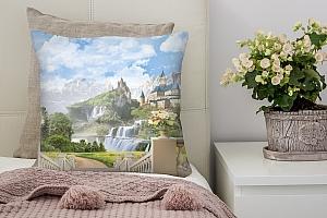 3D Подушка «Замки в горах» вид 3