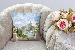 3D Подушка «Замки в горах» вид 5