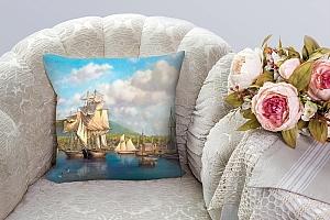 3D Подушка «Парусники в порту» вид 5
