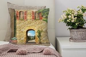 3D Подушка «Внутренний дворик» вид 3