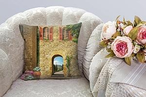 3D Подушка «Внутренний дворик» вид 5