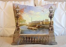 3D Подушка «Осенний город»