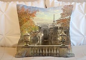 3D Подушка «Золотая осень в Париже»