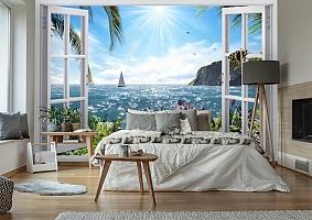 3D Фотообои  «Вид из окна на море»