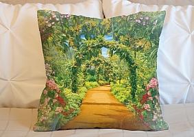 3D Подушка «Экзотические цветы»