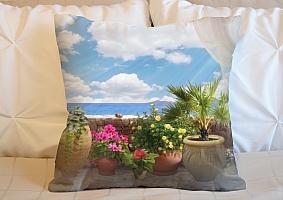 3D Подушка «Горшки с цветами»